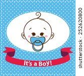 baby boy icons isolated on... | Shutterstock .eps vector #252620800