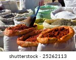 cooking spices on sale in a... | Shutterstock . vector #25262113
