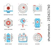 thin line icons of internet of... | Shutterstock .eps vector #252621760
