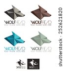 wolf head vector logo template  ... | Shutterstock .eps vector #252621820
