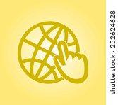 globe icon. flat design.   Shutterstock .eps vector #252624628