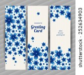 bright floral card with simple...   Shutterstock .eps vector #252634903
