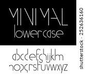 minimal lowercase font symbol... | Shutterstock .eps vector #252636160