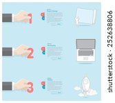 business hand infographics | Shutterstock .eps vector #252638806