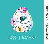happy easter  vector... | Shutterstock .eps vector #252639883