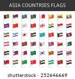 asia flag vector   Shutterstock .eps vector #252646669