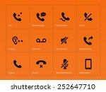 phone handset and call icons on ... | Shutterstock .eps vector #252647710