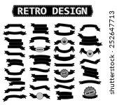 retro ribbon set  black .... | Shutterstock .eps vector #252647713