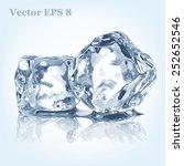ice cubes  vector eps 8 | Shutterstock .eps vector #252652546