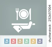 hotel icons. food. | Shutterstock .eps vector #252657004
