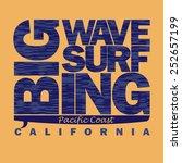 surfing t shirt graphic design. ... | Shutterstock .eps vector #252657199
