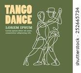 tango dance | Shutterstock .eps vector #252665734