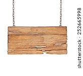 wood sign from a chain isolated ... | Shutterstock . vector #252665998