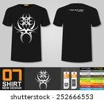 t shirt design tribal tattoo... | Shutterstock .eps vector #252666553