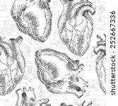 vintage vector seamless pattern ... | Shutterstock .eps vector #252667336