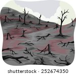 Illustration Of Charred Trees...