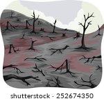Illustration Of Charred Trees...