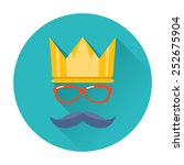 hipster party crown icon | Shutterstock .eps vector #252675904