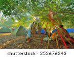 blurred scouts camping... | Shutterstock . vector #252676243