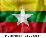 Union Of Myanmar Flag Or Burma...