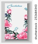wedding invitation cards with... | Shutterstock .eps vector #252684343