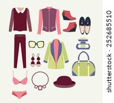 vector fashion clothes and... | Shutterstock .eps vector #252685510
