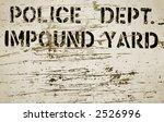 impound yard sign | Shutterstock . vector #2526996