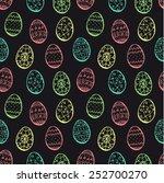 hand drawn easter ornate eggs ... | Shutterstock .eps vector #252700270