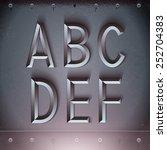 vector metal embossed font from ... | Shutterstock .eps vector #252704383