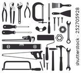 various hand tools vector... | Shutterstock .eps vector #252705928