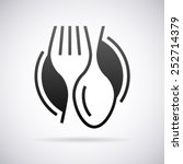food service vector logo design ... | Shutterstock .eps vector #252714379