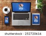 social network user profile... | Shutterstock . vector #252720616
