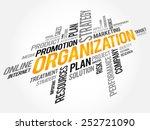 organization word cloud ... | Shutterstock .eps vector #252721090