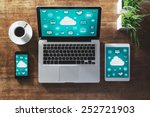cloud computing and social... | Shutterstock . vector #252721903