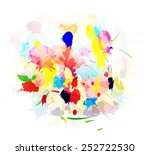grunge shapes splashes of color | Shutterstock .eps vector #252722530
