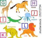 animal alphabet  part 2 of 4.... | Shutterstock . vector #25272754