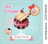 ice cream vector banner... | Shutterstock .eps vector #252735610
