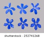 watercolor cornflowers | Shutterstock .eps vector #252741268