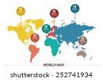 world map | Shutterstock .eps vector #252741934