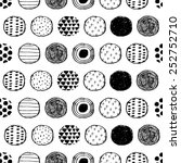 seamless stylish pattern with... | Shutterstock .eps vector #252752710