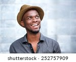 close up portrait of a happy... | Shutterstock . vector #252757909