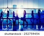 back lit people walking mall... | Shutterstock . vector #252759454