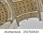 triumphal arc in paris france | Shutterstock . vector #252763423