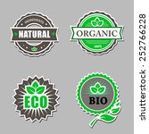 set of organic labels  ... | Shutterstock .eps vector #252766228