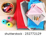 colorful fabric samples ... | Shutterstock . vector #252772129