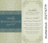 baroque wedding invitation card ... | Shutterstock .eps vector #252776779
