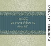 baroque wedding invitation card ... | Shutterstock .eps vector #252776809
