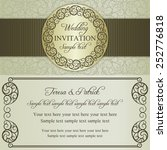 antique baroque wedding... | Shutterstock .eps vector #252776818