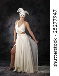 beautiful woman in wedding...   Shutterstock . vector #25277947