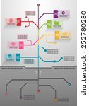 business tree  info graphics... | Shutterstock .eps vector #252780280